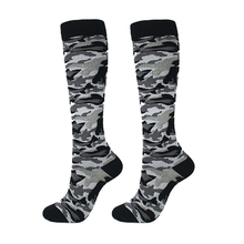 Compression Socks Unisex Running Sports Support Outdoor Camouflage Racing Long Pressure Stockings