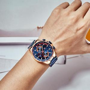 Image 5 - ミニフォーカスファッションブルー腕時計メンズクォーツ時計スポーツメンズ腕時計トップブランドの高級ビジネス全鋼のストラップレロジオmasculino