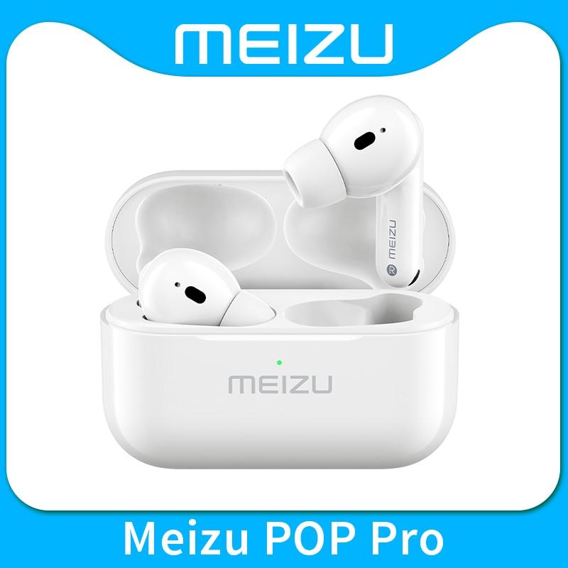 Meizu POP Pro Наушники-вкладыши TWS наушники Bluetooth 5,0 активных Шум отмены Беспроводной наушники 300 мА/ч, Батарея зарядным устройством для Meizu 18 Pro