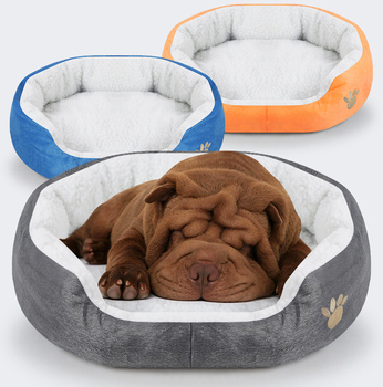 Pet Dog Bed Cashmere Warming Dog Bed House Soft Sofa Material Nest Dog Baskets Fall Winter Warm Kennel For Cat Puppy Supplies large pet cat dog bed 2colors warm cozy dog house soft fleece nest dog baskets house mat autumn winter waterproof kennel