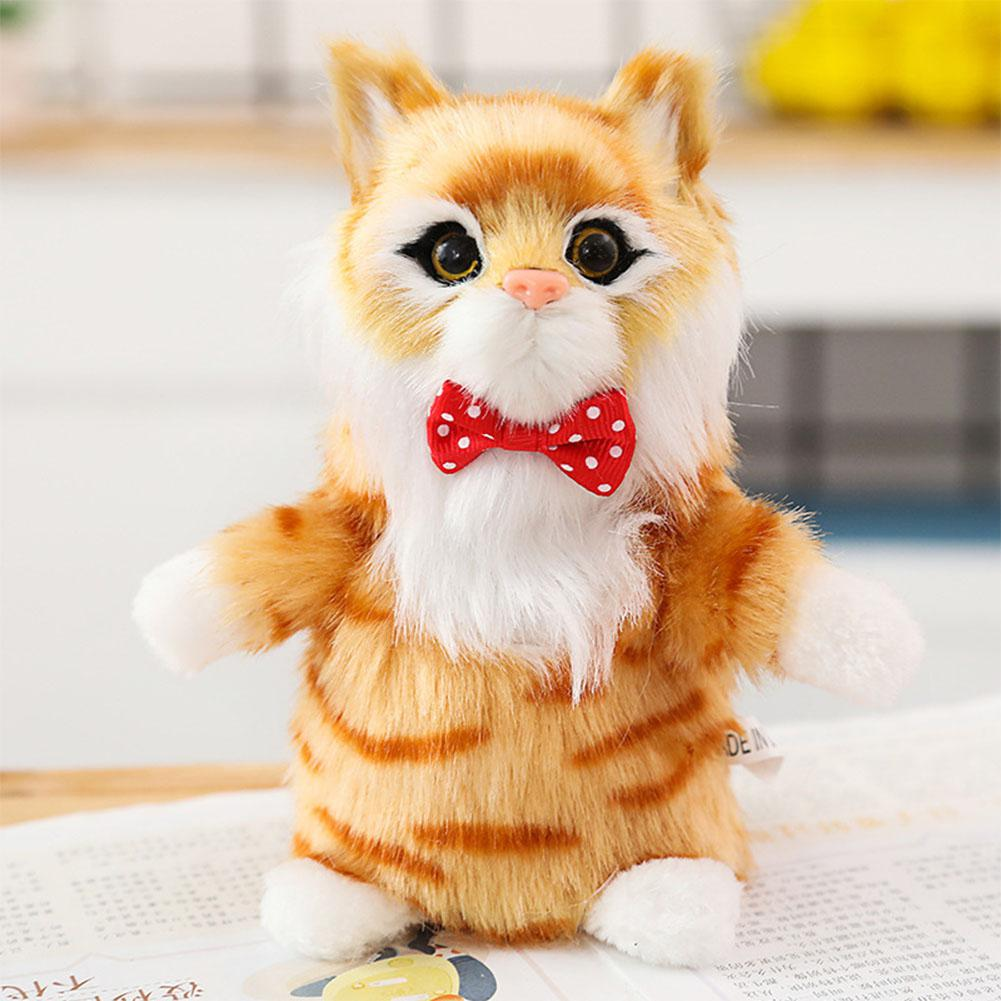 Kuulee  Electric Simulated Cat Plush Doll Sound Motor Safe Lightweight Kids Toy Gift Electric toy rolling cat simulation Cat