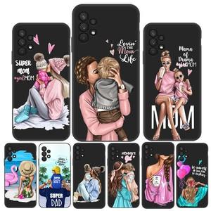 Image 1 - สำหรับ Samsung A32กรณี Super Mom ทารกหญิงสำหรับ Samsung Galaxy A32 4G Funda SamsungA32 A 32 A325F กันชน