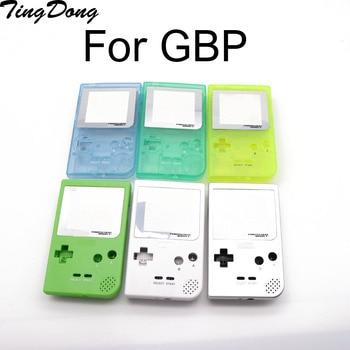 Funda completa de carcasa de repuesto para consola de juegos de bolsillo Gameboy para funda de concha gris con Kit de botones