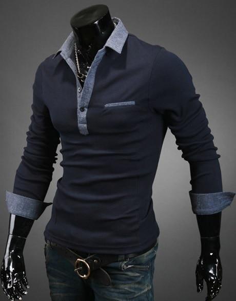 Zogaa Casual Men Polo Shirt Mens Long Sleeve Solid Polo Shirts Camisa Tops Tees Turn-down Collar Mens Breathable Polos Shirts