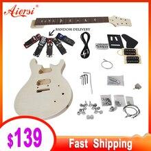 Aiersi Kit de guitarra eléctrica personalizable, 24 piezas, con todas las Hardwares e instrucciones BookEK 010