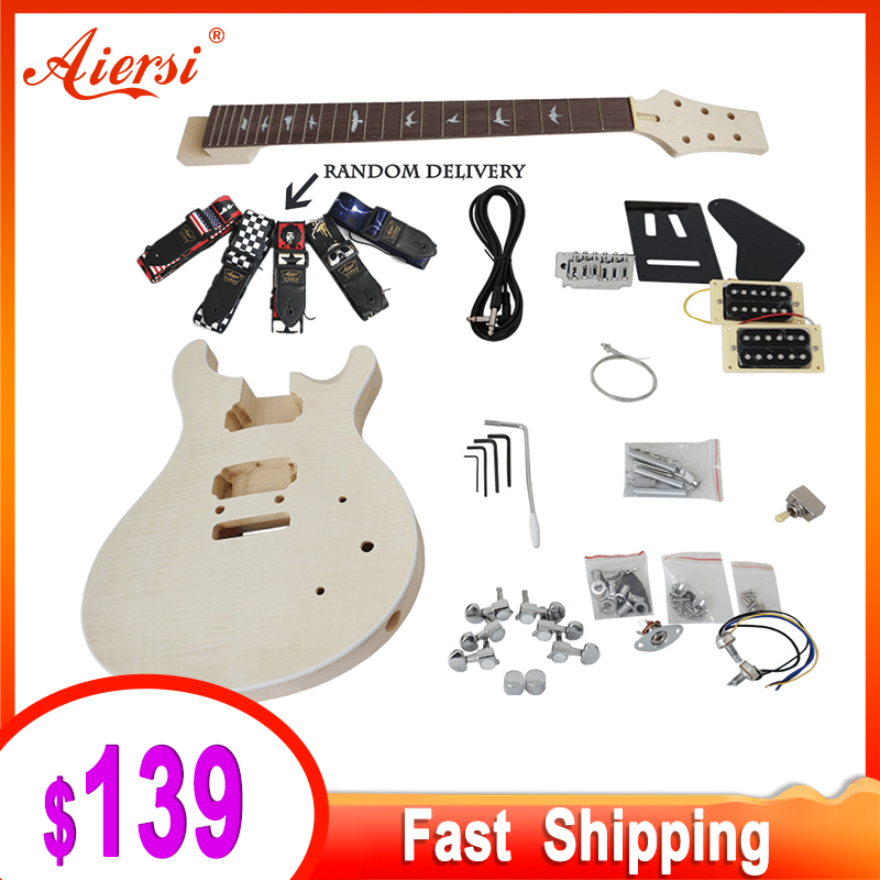Aiersi Unfinished Diy Custom 24 Se Prs Electric Guitar Kits With All Hardwares And Instruction Bookek 010 Guitar Aliexpress