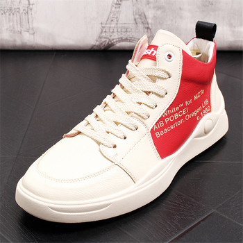 Brand Casual Shoes Men Leather Shoes Fashion Breathable Men Sneakers High Top Shoes Genuine Leather Men Shoes Men Loafers
