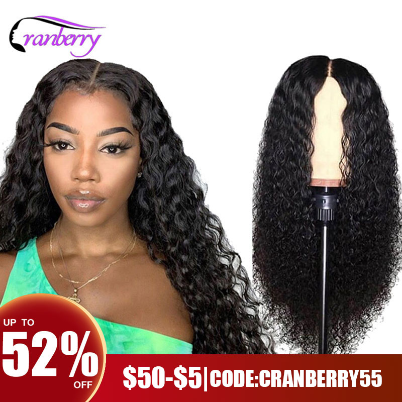 Cranberry Hair Deep Wave Wig 13x4 Lace Front Human Hair Wigs For Women 100% Remy Human Hair Lace Wigs Brazilian Hair Wig Outlet