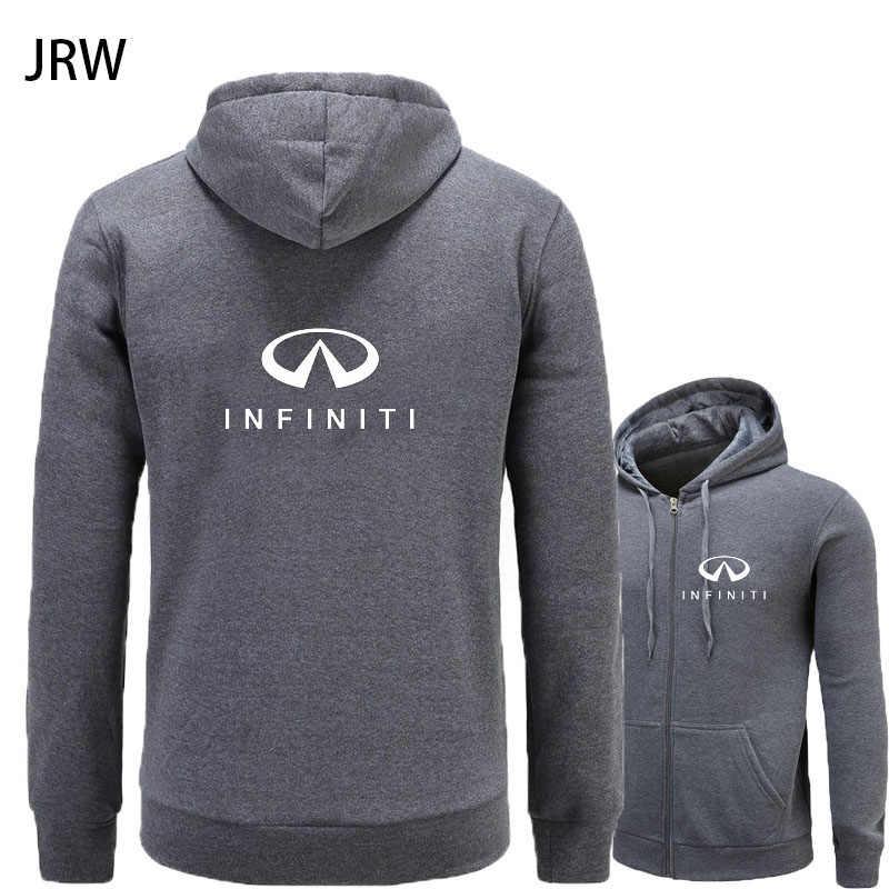 Новая одежда для мужчин Infiniti логотип кардиган поло плюс бархат с капюшоном Повседневная Мужская Mitsubishi рубашка поло толстовки