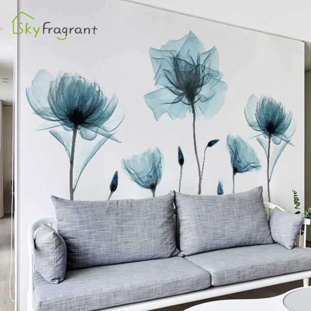 Creative Warm Floral Wall Stickers 10