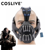 Coslive Bane Mask with Voice Changer Batman Mask Bane Half Face Mask The Dark Knight Rises Cool Cosplay Costume Halloween Props