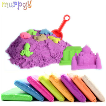 100g/Set Sand Glue for Slime Clay Novelty Beach Toys Sand Model Clay Dynamic Moving Magic Sand Toys for Children Christmas gift 100g dynamic sand play toys magic running fun space beach motion play sand slime supplies model tools antistress kids toys set