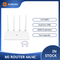 Xiaomi Router 4A 4C MI Gigabit edition 2.4GHz 5GHz WiFi 1167Mbps 128MB DDR3 alto guadagno 4 Antenna APP controllo IPv6 WiFi MI Router