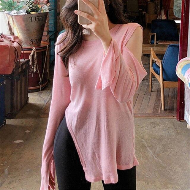 NEW Spring Top Sexy T Shirt Women Elasticity T-Shirt Korean Style tee Woman Clothes Slim Tshirt Female skinny long Sleeve Tops 1