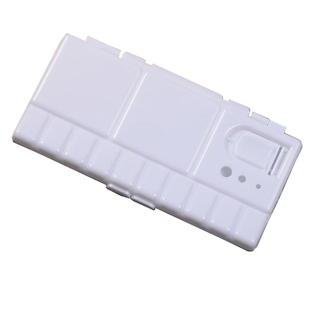 Watercolor Flip Folding 25 Grids Tray PP Art Supplies White Paint Box Large Drawing Tools Palette TSP-2204