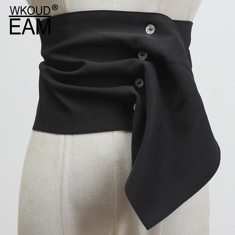 2020 New Women Suit Cloth Corset Belt Casual Irregualr Wide Waistband Ladies Elastic Belts Designer High Quality Brand PF221