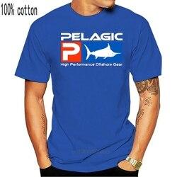 Camiseta de manga curta unisex da pesca da engrenagem pelágica nova