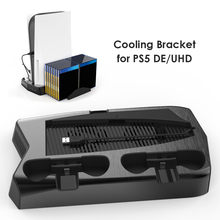For PS5 Vertical Stand with Cooling Fan Dual Controller Charger Console Charging Station
