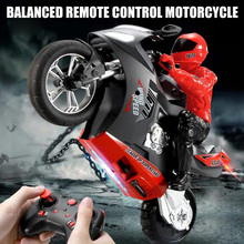 Mini Motorcycle Toy Kids Electric Remote Control RC Motorcycle 2.4Ghz Racing Motorbike Toys for Children M09