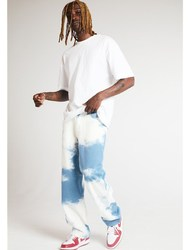 2021 Mens Comfort Tie-dyed Denim Straight-fit Jean Pant Washed Comfort Stretch Chino Comfort Rise Relaxed Straight Leg Jeans for