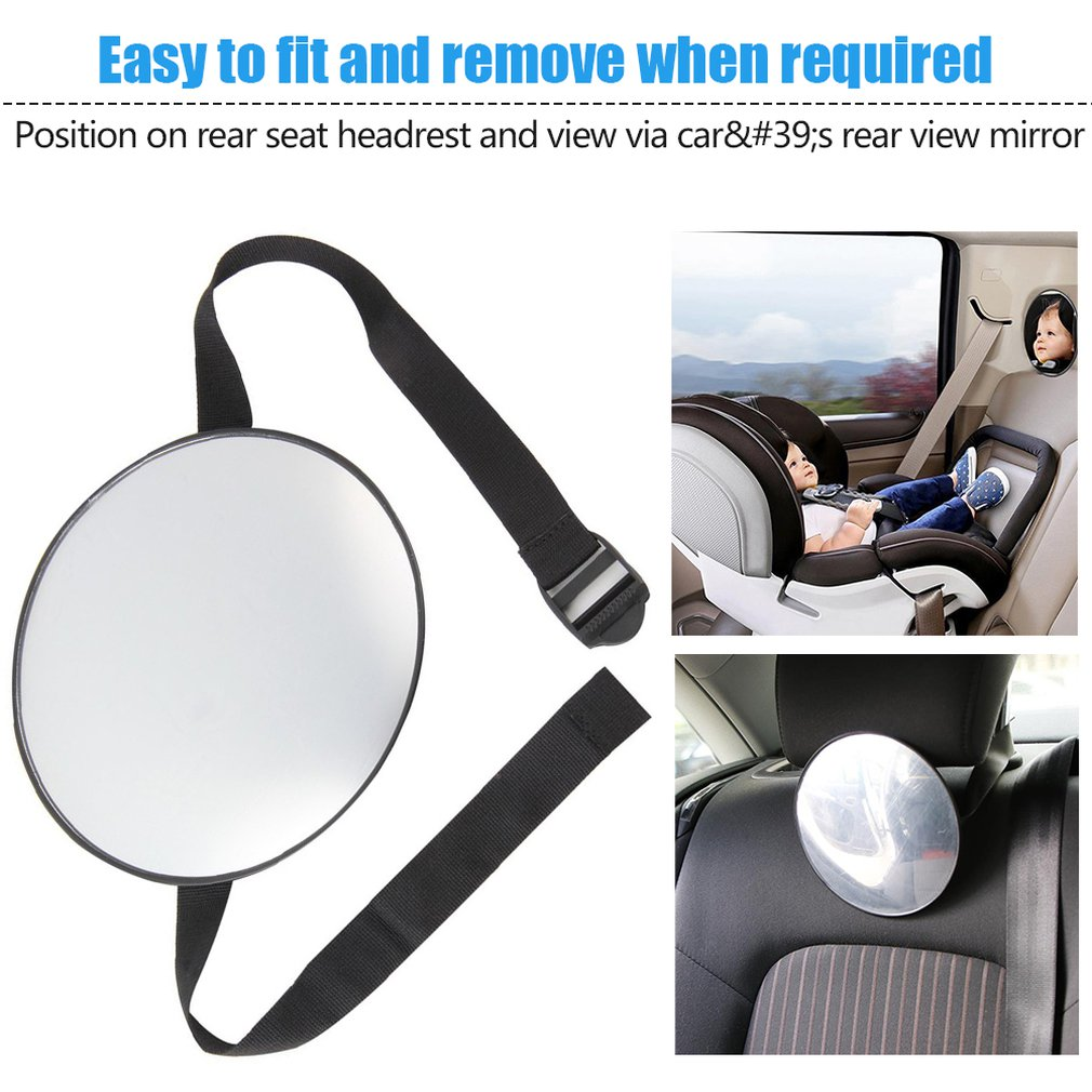 Car Safety Easy View Back Seat Mirror Baby Facing Rear Ward Child Infant Care Round Shape Car Safety View Back Seat Mirror