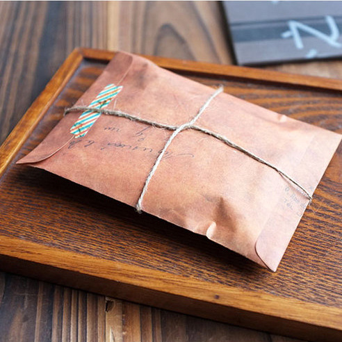 50pcs/set Envelopes Vintage Brown Kraft Paper Blank Mini Window Wedding Invitation Envelope/postcard Gift Envelope/