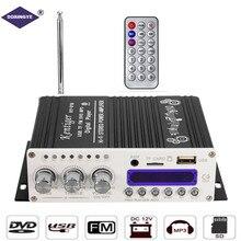 DOXINGYE 12 В 20 Вт Hi-Fi автомобильный аудио усилитель мощности 4 CH DSP звук Bluetooth цифровой USB MP3 DVD CD FM радио SD Стерео FM плеер