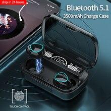 TWS-стереонаушники с поддержкой Bluetooth и светодиодный ным управлением, 3500 мАч
