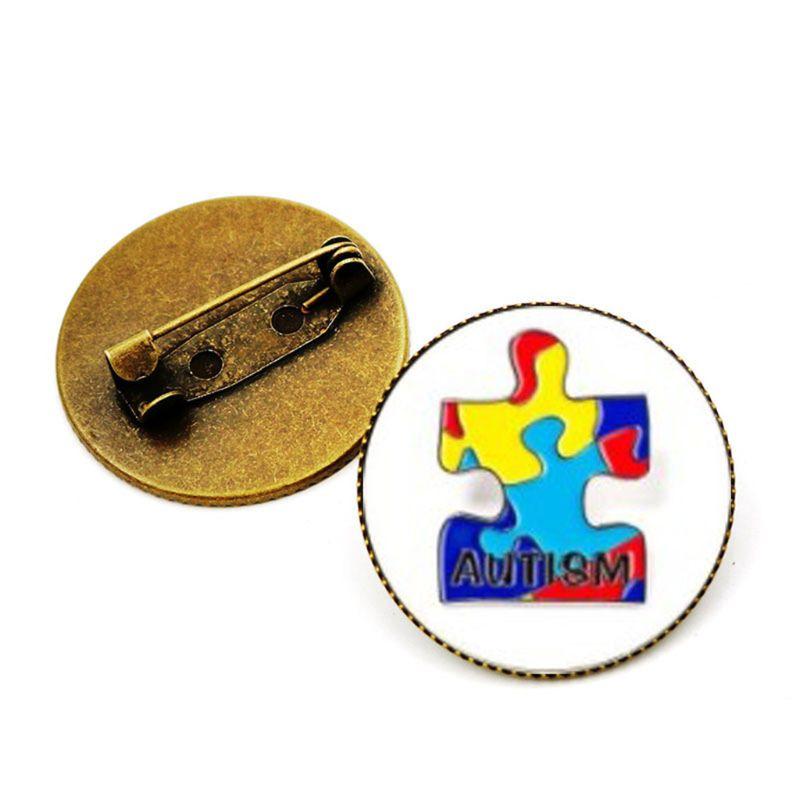 """LOT OF 3 AUTISM AWARENESS RIBBON LAPEL PIN 1.25/"""" Metal Enamel Hat Badge Support"""