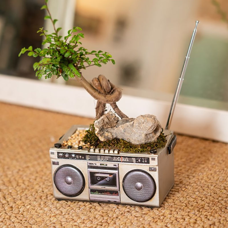 New Retro Tape Recorder Succulent Flower Pot Home Creative Storage Box Ornaments Resin Crafts Home Balcony Garden Decoration Just6F