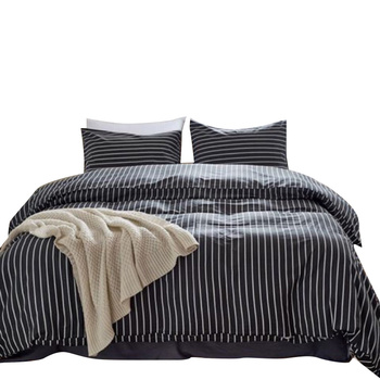 Modern 2/3Pcs Striped Pattern Bedding Set Modern Cotton Duvet Cover Pillowcase Twin Queen King Size Home Bedclothes Bed Cover