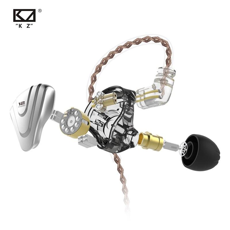 cheapest KZ ZSX Metal Earphones 5BA 1DD Hybrid technology 12 driver HIFI Bass Earbuds In Ear Monitor Speaker Noise Cancelling Headset