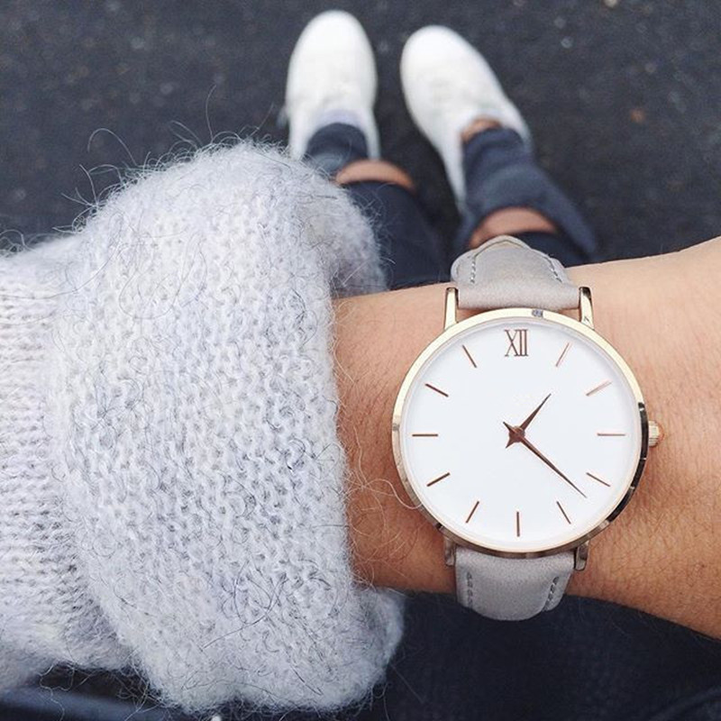 2019 New Fashion Simple Women Watches Casual Ladies Leather Quartz Watch Watch Woman Clocks Vrouwen Zegarek Damski Watch-watch