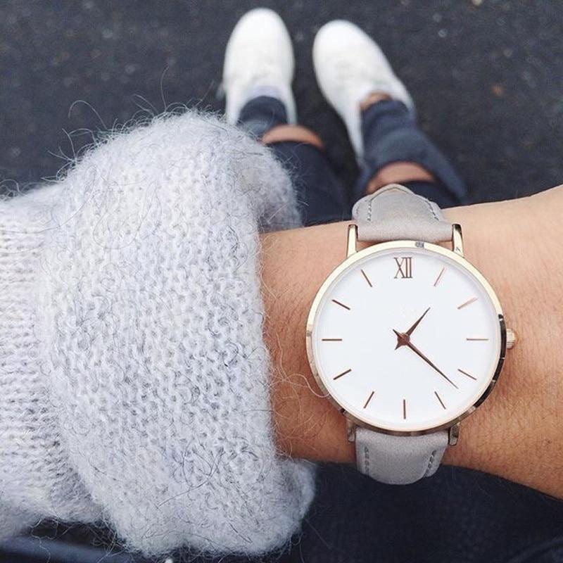 2019 New Fashion Simple Women Watches Casual Ladies Leather Quartz Watch Watch Woman Clocks Vrouwen Zegarek Damski Watch-watch