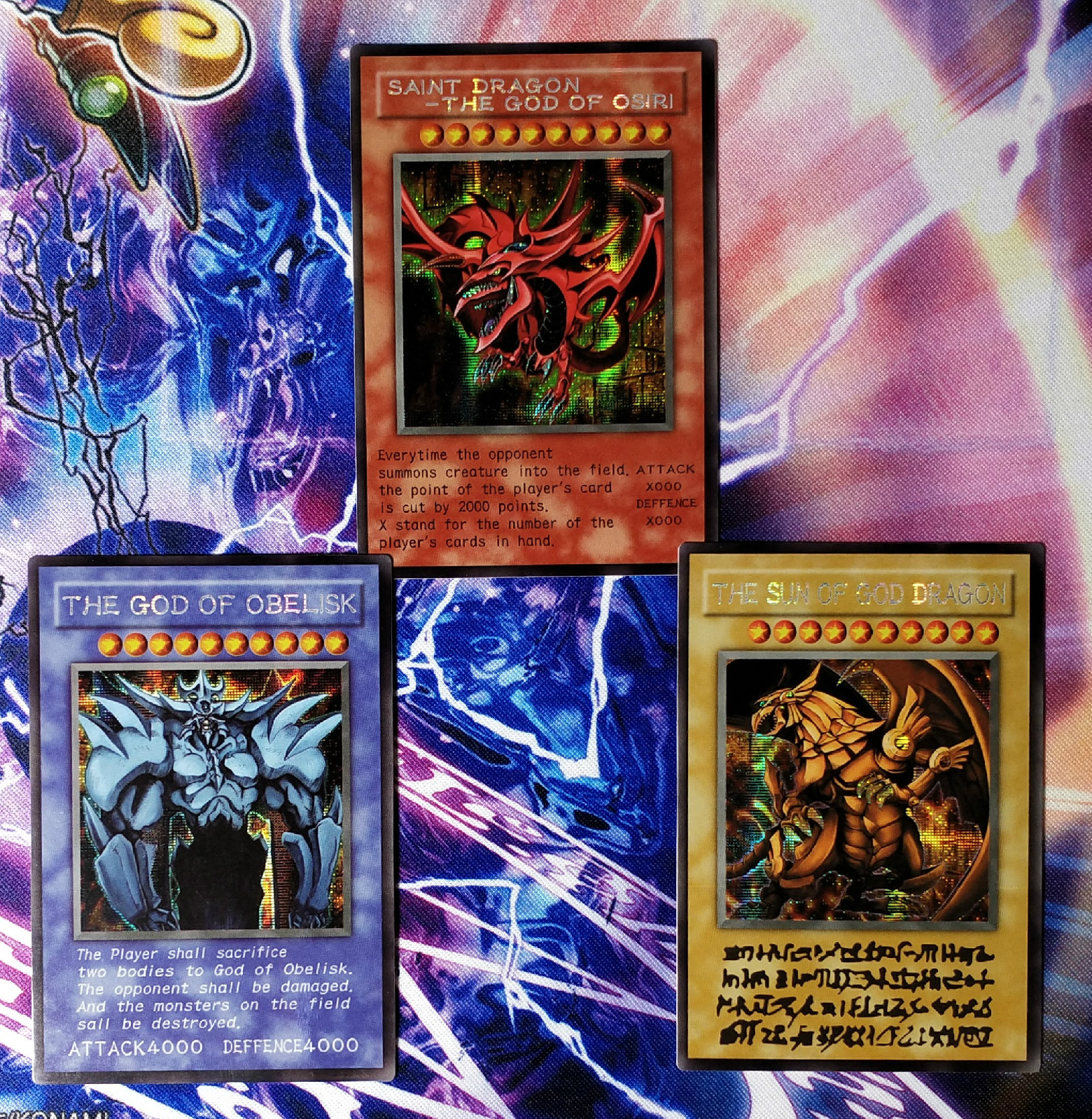 Yu Gi Oh Egyptian God DIY Colorful Toys Hobbies Hobby Collectibles Game Collection Anime Cards
