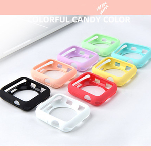 Candy Case for Apple Watch 42MM 38MM Soft Silicone Cover Protection Shell for iWatch series 5 4 3 40MM 44MM Watch Bumper