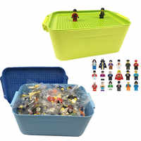 100 60 cidade compatível blocos de construção diy legoingly caixa armazenamento menino menina brinquedo presente tijolos figuras ação em miniatura para crianças