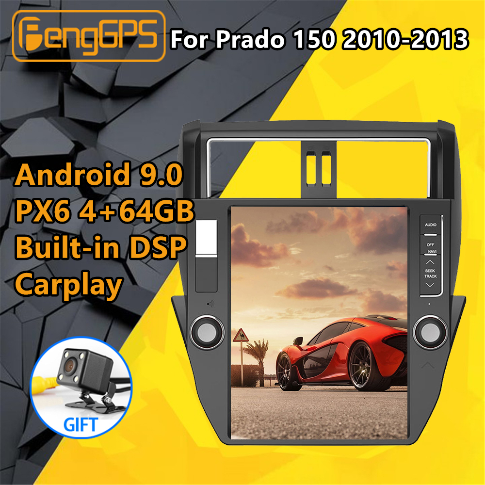<font><b>Car</b></font> multimedia Player <font><b>For</b></font> <font><b>TOYOTA</b></font> Land Cruiser <font><b>Prado</b></font> <font><b>150</b></font> <font><b>2010</b></font> 2011- 2013 Stereo <font><b>Radio</b></font> Audio Android Tesla style GPS Nav Head Unit image