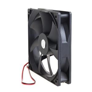 Image 4 - 12cm haute vitesse ordinateur DC 12V 2Pin PC boîtier système hydraulique ventilateur de refroidissement 12025