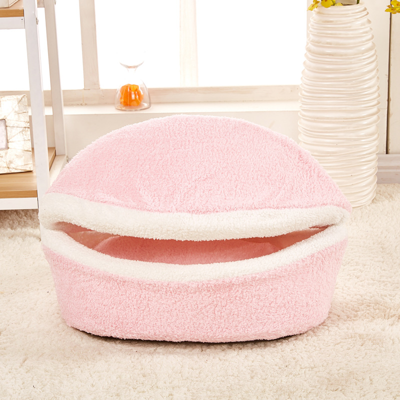WHPC Pet Cat Bed House Dog Bed Kennel Puppy Cave Warm Sleeping Bed Winter Warm Bed