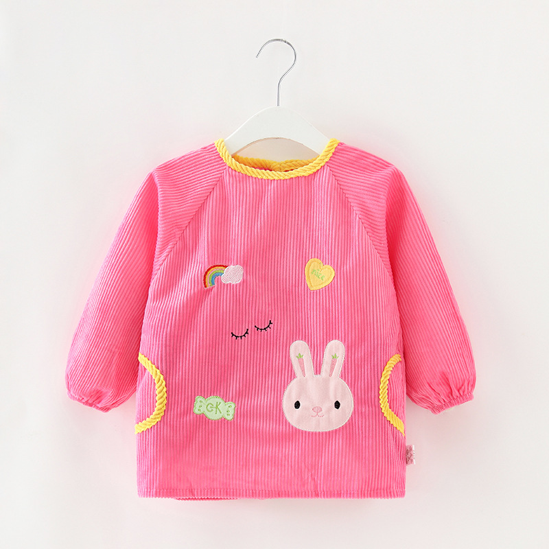 Children Waterproof Eating GIRL'S Overclothes Baby Clothes Long Sleeve Kids Apron Bib BOY'S Infant Protective Clothing Autumn An