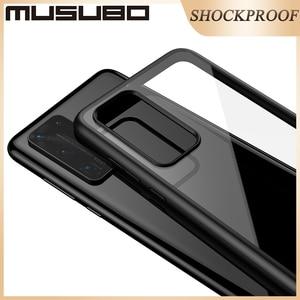 Image 4 - Musubo 超薄型ケース huawei 社 P40 プロ耐衝撃ケースカバー高級フルバックケース P40Pro 透明なシリコーン透明