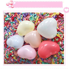 лучшая цена 50pcs 2.2g heart-shaped balloons with wedding party balloons, heart-shaped Makaron balloons