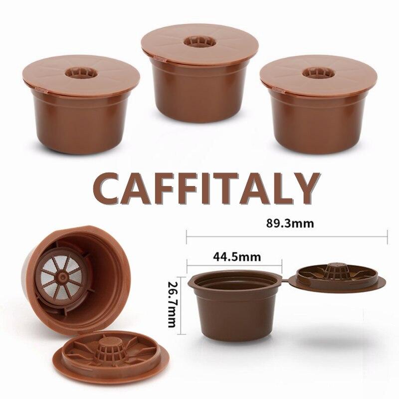 3 предмета в комплекте, 6 штук в партии, Кофе машина Многоразовые 8g Ёмкость капсулы Кофе чашка фильтр для Caffitaly капсула Кофе машина Кофе фильт...