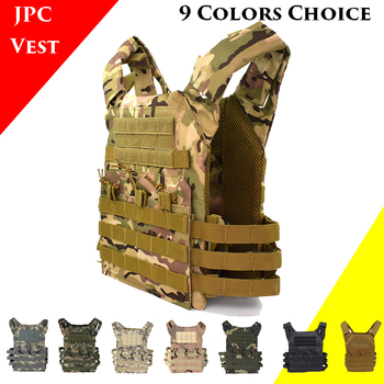 JPC 600D Oxford Hunting Tactical Vest Military Molle Plate Carrier Vest Men Airsoft Paintball CS Outdoor Protective Body Armor military army combat jpc plate carrier molle vest tactical outdoor hunting shooting men airsoft paintball protective body armor