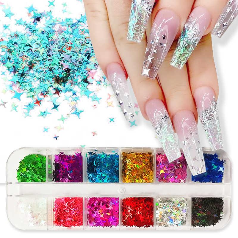 Lantejoulas de borboleta para unhas, decoração brilhante de unhas com flocos de borboleta coloridas, pó de glitter, brilhante, decorações de unhas