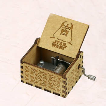 Anime Star war Music Box Hand Crank Musical Box Carved Wood Musical GiftsPlay Disney Frozen  figure toy dragon ball music box hand crank musical box carved wood musical gifts play dragon ball z tapion theme