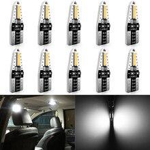 Katur 10x w5w interior do carro luzes de leitura luz cúpula erro livre t10 led canbus lâmpada para alfa romeo 159 147 156 giulietta mito