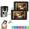 7 zoll Verdrahtete monitor + Wifi monitor Video Tür Telefon Türklingel Intercom System mit Tür Access Control System-in Videosprechanlage aus Sicherheit und Schutz bei