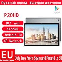 Teclast – P20HD tablette PC Android 10 Octa Core, 1920 pouces, 4 go de RAM, 64 ROM, écran IPS SC9863A, GPS, 1200 mAh, appel téléphonique 4G, 10.1x6000